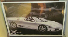 FERRARI 360 SPIDER POSTER NEW VINTAGE RARE EARLY 2000'S SPORTS CAR EXOTIC