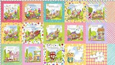 "Loralie Designs_precious express baby train_24"" x 44""_quilt fabric_cotton"