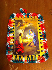 handcrafted crocheted one-of-a-kind Birth Savior Ornament Christmas Card Jesus