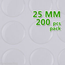200PCS 25MM Round Transparent Epoxy Domes Resin Cabochon Sticker C1902