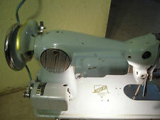 Vintage Deluxe Good Housekeeper Sewing Machine Turquoise Porcelain Circa 40's