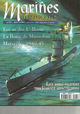MARINES N°21 AS DES U-BOOTE / FLOTTE ITALIENNE / MARSEILLE 1940-45 /  SMARIN US
