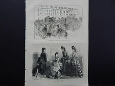 Illustrated London News Full-Page S8057 Sept 1871 Engineers' Strike at Newcastle