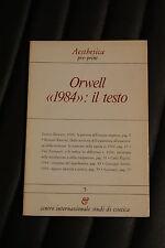 """Orwell """"1984"""" il testo – prima edizione 1984 - Aesthetica - Numero 5"""