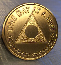 Al-Anon Bronze Recovery Medallion Coin Bronze Plain Center Alanon