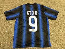 2010-2011 Inter Milan Soccer Jersey Kit Size L Large Samuel Eto'o Shirt Home