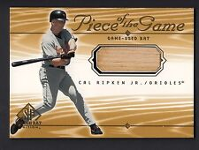 Cal Ripken Jr 2001 SP Game Bat Edition Piece of the Game Used Bat Card SP Oriole