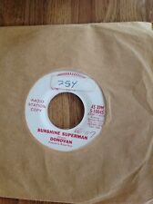 45 RPM Single--- DONOVAN:  SUNSHINE SUPERMAN  &  THE TRIP Red Vinyl Promo