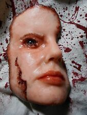 HORROR PROPS Skinned Face Silicone HALLOWEEN FREAK SHOW ZOMBIE Body Parts lg 1a