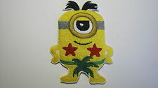 DESPICABLE ME MINION AU NATURAL BEACH LOVING EMBROIDERED PATCH SEW IRON ON