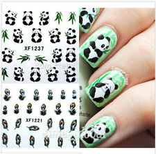 1Sheet Cute Panda Pattern Nail Art Water Decals Manicure Transfers Sticker