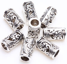 25Pcs Wholesale Tibet Silver Tube Loose Spacer Bead Jewellery Making Charm Gift