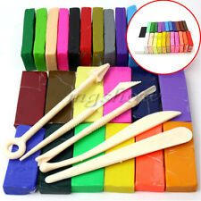 5 Tool+32 Color Oven Bake Polymer Clay Block Modelling Moulding Sculpey Toy Set