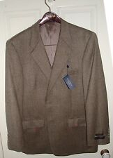 NEW CLUB ROOM MEN'S SPORTS JACKET BLAZER  WOOL AND CASHMERE 43R FREE SHIPPING