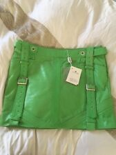 Versace Versus Leather Skirt green Size 8 IT 40