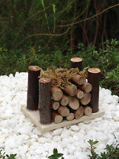 Miniature FAIRY GARDEN Accessories ~ Mini Wooden Wood Pile with Moss ~ NEW