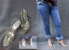 EUC$70 ALDO Gold Metallic Leather Strappy Eve Sandal Heels Shoes 40/10 Grovecity