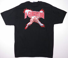 VTG 90S DX D-GENERATION X ORIGINAL WWF BLACK T-SHIRT HHH CHYNA MICHAELS SUCK IT