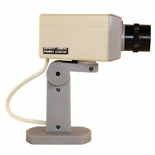 Motion Activated Dummy Security Camera with Motorized Swivel Action