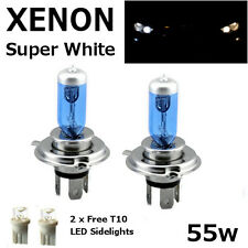 H4 60/55w SUPER WHITE XENON (472) Headlight Bulbs 12v