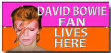DAVID BOWIE FAN LIVES HERE ENAMELLED METAL SIGN, MUSIC, CLASSICS