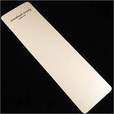 Lot de 10 Etiquettes Cartes emballage avec pochette pour Colliers 21 x 6 cm