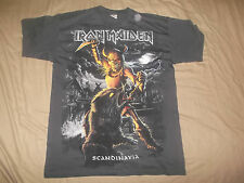 IRON MAIDEN-SHIRT ALLOVER SCANDINAVIA CULT HEAVY METAL LTD RARE!!!