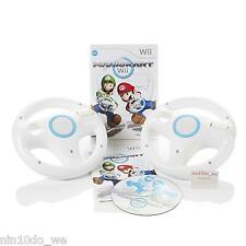 MARIO KART Wii (& U) +2 Genuine Official Nintendo Wheels -Super Cart Racing Cars
