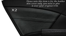BLACK STITCH 2X REAR DOOR CARD TRIM SKIN COVERS FITS HONDA CIVIC SE SE-T EX 12+