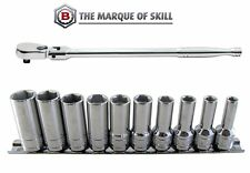 BRITOOL HALLMARK 3/8 INCH SQ DR RATCHET PLUS SEMI-DEEP SOCKET SET