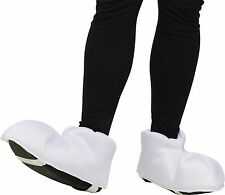 Large Cartoon Feet Over-Sized Funny Shoe Covers Big White Adult Marshmallow NEW