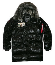 Alpha Industries n3b DOWN JACKET PARKA INVERNO GIACCA PIUMINO TG S BLACK | k24