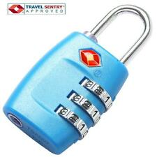 Jasit 3 Dial Combination TSA Accepted Luggage Suitcase Travel Security Lock BLUE