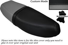 BLACK & GREY CUSTOM FITS HONDA C90 CUB SQUARE LIGHT MODEL DUAL SEAT COVER