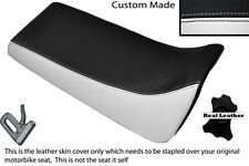 BLACK & WHITE CUSTOM FITS YAMAHA BLASTER YFS 200 DUAL LEATHER SEAT COVER