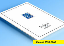 COLOR PRINTED FINLAND [CLASS.] 1856-1946 STAMP ALBUM PAGES (22 illustr. pages)
