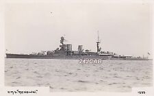 "Royal Navy Real Photo Postcard. HMS ""Renown"" (1916)  Battlecruiser. c 1933"