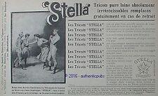 PUBLICITE STELLA TRICOT PURE LAINE VETEMENT GOUTTEUX DE 1906 FRENCH AD PUB RARE