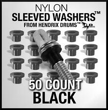50 Nylon Sleeve BLACK Tension Rod Washers Drum Hoop Rim