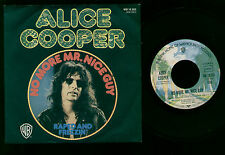 """7"""" ALICE COOPER NO MORE MR. NICE GUY / RAPED AND FREEZIN' MADE IN GERMANY 1973"""