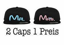 Mr Mrs Snapback Cap Partner Look Pärchen Hipster Best Friends Hat Love New