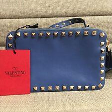 BNWT Auth Valentino Garavani 'Rockstud' Crossbody Bag Blue (includes Dust Bag)