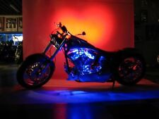 Blue Neon Flexible LED Motorcycle Lighting Kit 6pc.with Remote Control & EFX!