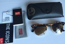 RAY-BAN Clubmaster Tortoiseshell Acetate And Metal Sunglasses RRP £135