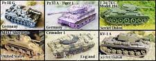 GHQ WWII Micro Armour 1:285 Main Battle Tanks of WWII Pack MINT