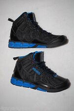 Boys Athletic Shoes BLACK BLUE AND1 PHANTOM High Top BASKETBALL Non Marking SZ 5