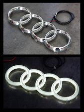 Audi LED Emblem Ringe Logo Front Grill Weiss beleuchtet 27,3cm x 9,5cm NEU!