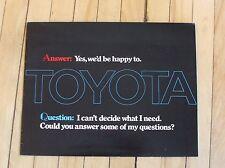 Original 1972 Toyota Dealer Sales Brochure All Models 8 Pages