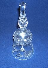 clear glass hand bell