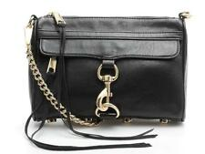 Rebecca Minkoff Black Leather & Silver Chain Crossbody Bag
